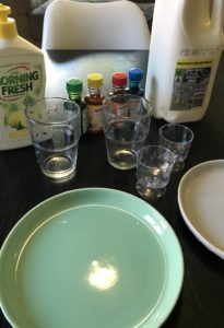 牛乳を使った実験